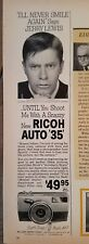 1961 Jerry Lewis Cinderella picture RICOH Auto 35 camera ad