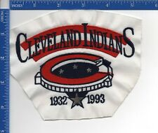 "Authentic MLB- Cleveland Indians Stadium patch 5"" X 4 1/2""  NOS 1993 sew on"