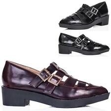 Court Block Heel Synthetic Leather Unbranded Shoes for Women