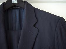 Giorgio Armani Collezioni Midnight Navy Tonal Stripe Suit 40R