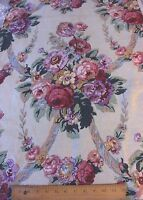 Antique French Art Deco Vintage Old c1928 Home Floral Linen Fabric~Pillows,Bags