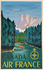Canada Vintage Air Travel Advertising Poster Reproduction Canvas Print 20x32