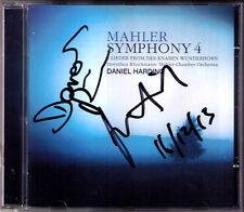 Daniel Harding, Dorothea Röschmann SIGNED Mahler SYMPHONY 4 per ragazzo miracolo CORNO CD