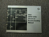 1982 BMW 528e 528E Electrical Troubleshooting Wiring Service Repair Manual OEM