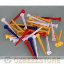 100 X All Plastic 54mm golf tees medium for driver assorted mixed colors