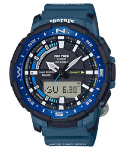 Casio Men's Pro Trek Quartz Sport Watch with Resin Strap Blue Watch