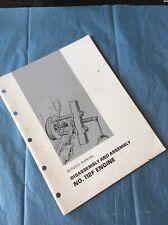 Caterpillar 112f Engine Diss Amp Assembly Motor Grader Shop Service Manual Book