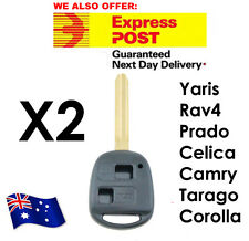 Toyota Prado RAV4 Echo Corolla Remote Car Key Button Shell/Case/Enclosure X2