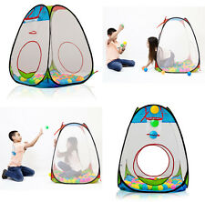 Dimple Children's Pop Up Tent with Basket Ball Hoop and 100 Balls DC11610