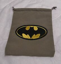 DC Dice Masters World's Finest Justice League Grey BATMAN Drawstring DICE BAG