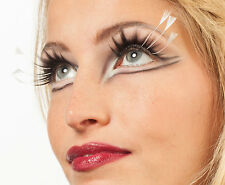 Flatterige resorte pestañas blanco nuevo-styling maquillaje carnaval carnaval