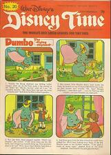 WALT DISNEY'S DISNEY TIME IPC MAGAZINES 1977  # 20 Dumbo Winnie The Pooh Bambie
