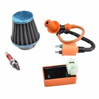 GY6 CDI Ignition Coil Racing Spark Plug with 39mm Air Filter for 50cc 125cc G8D7