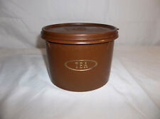 Tupperware Vintage Brown Tea Canister with B Seal