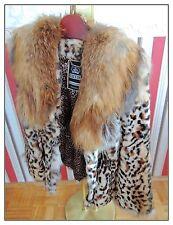 Pelz Jacke TRENTO SALE! Fuchs Fur Coat fox Manteau de fourrure Шуба Лиса XS -S
