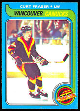 1979 80 OPC O PEE CHEE #117 CURT FRASER NM RC VANCOUVER CANUCKS HOCKEY ROOKIE
