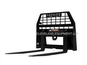 "NEW PREMIER 48"" PALLET FORKS & FRAME for Skid Steer Wheel Loader 8000# Capacity"