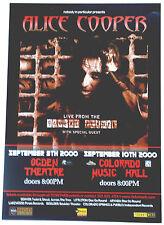"Alice Cooper Original ""Brutal Planet"" 2000 Colorado Music Hall Concert Poster"