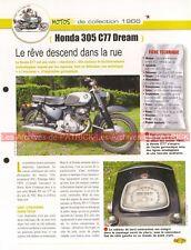 HONDA CB 77 305 Dream 1966 Joe Bar Team Fiche Moto #003272