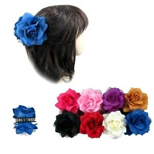 2 pieces Chiffon Flower Bow Hair Claw Bling Jaw Clip Barrette Accessories Lots