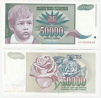 Yugoslavia 50000 Dinara 1992 P-117 UNC Hyper Infaltion Banknote