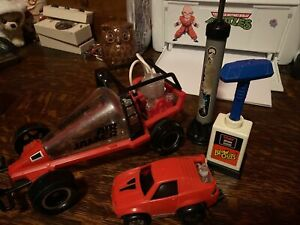 2 Tomy Air Jammer And Blow Outs Race Cars With Pumps