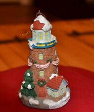 FREE SHIP Lighthouse Christmas Tree Ornament Decorated for Holiday