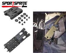 Outdoor EDC Multifunction K Sheath Kydex Scabbard Shell Belt Clip Waist Clamp BK