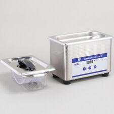 800ML Digital Ultrasonic Cleaner Heated Timer Cleaning Tank Bath Jewelry Glasses