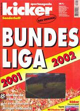 Kicker Sonderheft Bundesliga 2001/2002 Sportmagazin