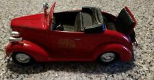 LIBERTY #10018 1937 CHEVROLET CONVERTIBLE FIRE CHIEF CAR  DIECAST 1/25 SCALE
