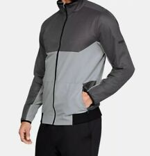 mens Under Armour UA Gore® Windstopper® Full Zip Jacket sz XL Fitted Gray