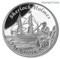 2013 FAMOUS SHIPS THAT NEVER SAILED GLORIA SCOTT Silver Proof Coin Sherlock Holm