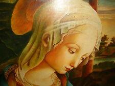 Gemälde Öl Maria Heilige Christliches Ölgemälde Ikone 1946 handgemalt W.Hellhake