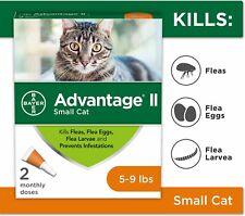 Advantage Ii Flea Treatment for Small Cats 5 lbs to 9 lbs & Ferrets 6 Treatments