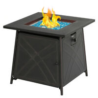 """Bali Outdoor Propane Fire Pit Patio Gas Table 28"""" Square Fireplace 50,000BTU US"""