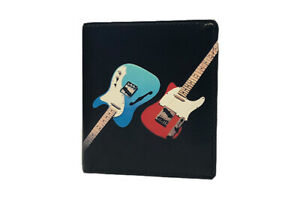 Genuine Leather Guitar Wallet Notes Coins & Cards - Scanproof RFID