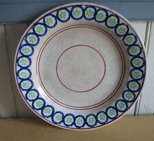 "Vtg Spatterware Spongeware Stick spatter Soft Paste 9"" plate Tri Color Mid 1800s"