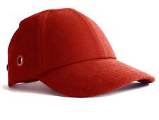 Safety Baseball Cap Hard Hat Bump Cap Red Vented Velcro Fastening Adjustable