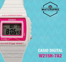 Casio Standard Digital White and Pink Watch W215H-7A2