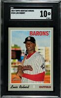 2019 Topps Heritage Minor League Luis Robert #154 White Sox SGC 10 COMP PSA BGS