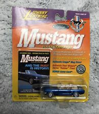 Johnny Lightning Mustang Illustrated Blue 1965 Ford Mustang Convertible NOC