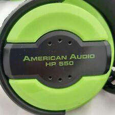 American Audio HP 550 Dj Headphones Green Used Good