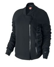 Nike Tech Fleece AEROLOFT Moto 800 Jacket Womens Size M Black RRP £150 Free P&P