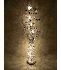 Beautiful Large Tall Silver & Blue aluminium 150cm blue berry Flower floor lamp