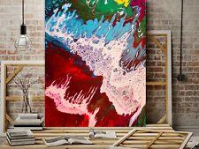 WEISE XXL Acryl BILD Abstrakt Gemälde Leinwand 100x 80 auf Keilrahmen Nr. 109/19
