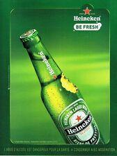 PUBLICITE ADVERTISING 027  2010  bière Heineken  Be fresh 2