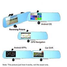 "Android Smart GPS Navigation 5"" HD Car Rearview Mirror DVR Camera G-Sensor D5J8"