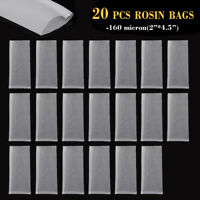 "20PCS 2'' x 4.5"" 160μm Nylon Rosin Extraction Filter Press Bag Screen Mesh /AU"