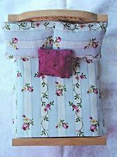 new Miniature Dollhouse Bedspread Comforter 3 Pillows 1:12 scale floral vine